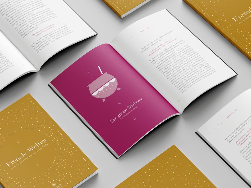 Buchgestaltung fuer den Verlag Kulturzauber