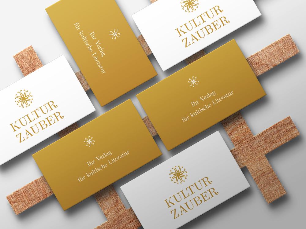 Visitenkarten für den Verlag Kulturzauber von Luisa Wiebke