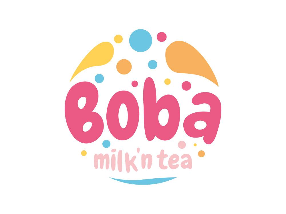 Logogestaltung fuer den Bubble Tea Laden Boba