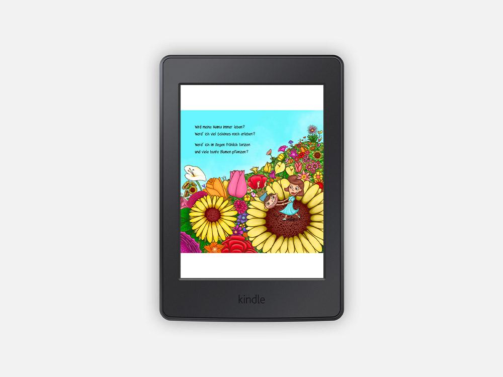 E-Book Kinderbuch, Junge tanzt mit seiner Mutter