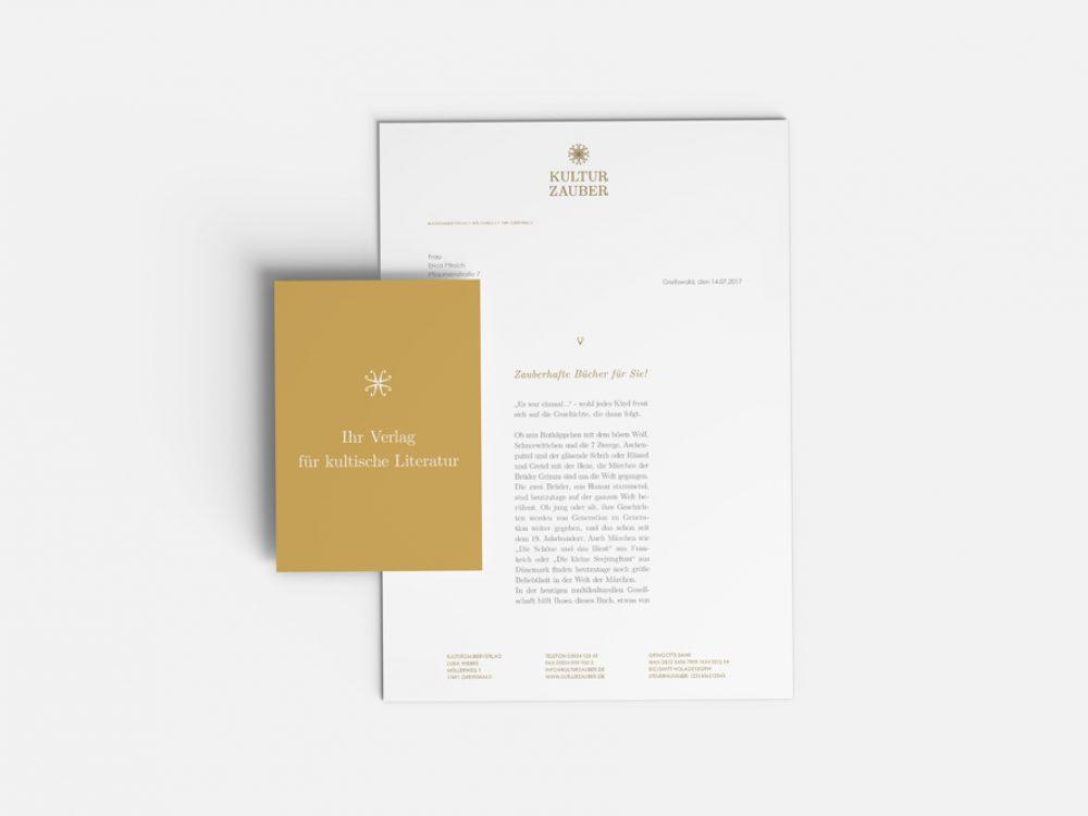 Briefbogen fuer den Verlag Kulturzauber